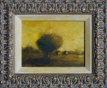 OLGA SHIROKOVA (Russian 1976-), Yellow Sky, signed Oil Painting