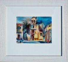 HAMISH LAWRIE (SCOTTISH 1919-1987), Tuscan Piazza, signed Oil Pastel