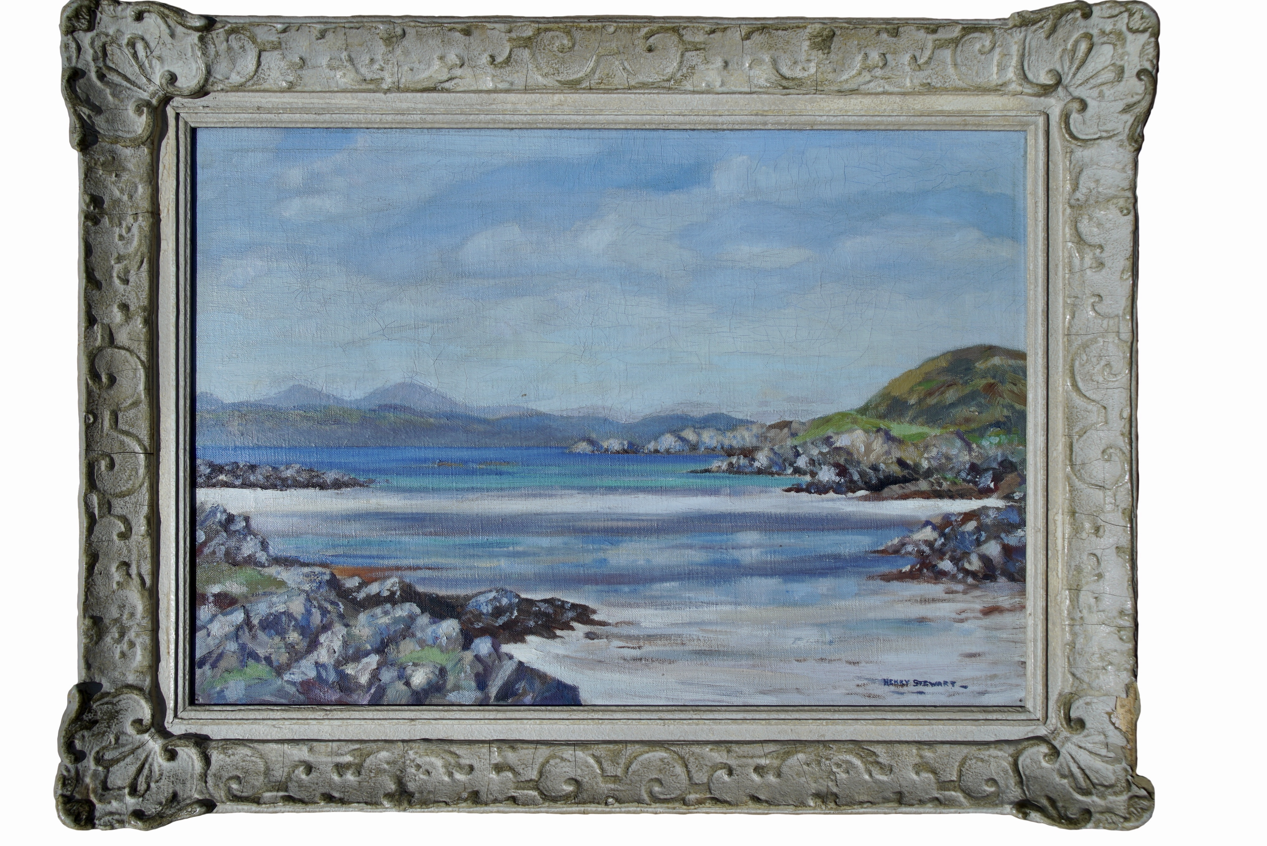 HENRY STEWART (Scottish), The Paps of Jura, Signed Oil Painting
