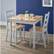 (R9A) 1x Mortimer Pine Dining Set With 2 Chairs