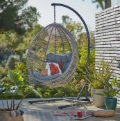 (R16) 1x Hartington Florence Collection Hanging Chair RRP £280. (H198 x W116 x D118cm)