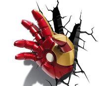 (R2P) 4x Marvel Avengers 3D Deco Light. 1x Hulk Right Fist. 1x Iron Man Hand. 1x Thor Hammer. 1x I