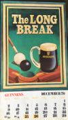 1979 Vintage Guinness Calendar Month Print – The Long Break –