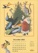 2003 Guinness Calendar Print John Gilroys Animals Characters *15