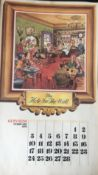 """GUINNESS 1974 Calendar Prints """"Pub Names"""" Artwork by Norman Thelwell *2"""
