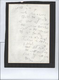 A Handwritten Double-Sided A4 Size Prison Letter by Reggie Kray