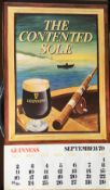 1979 Vintage Guinness Calendar Month Print –The Contented Sole–