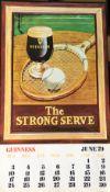 1979 Vintage Guinness Calendar Month Print – The Strong Serve –