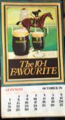 "1971 Vintage Guinness Calendar Month Print 'The 10-1 Favourite"""