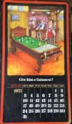1971 Vintage 50 Years Old Guinness Calendar Month Print 'Tony Escott Cartoons' *10