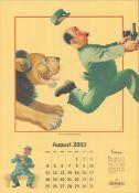 2003 Guinness Calendar Print John Gilroys Animals Characters *11