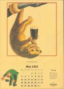 2003 Guinness Calendar Print John Gilroys Animals Characters *8