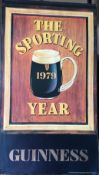 1979 Vintage Guinness Calendar Month Print – The Sporting Year –
