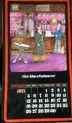 1971 Vintage 50 Years Old Guinness Calendar Month Print 'Tony Escott Cartoons' *11