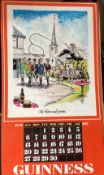 "1976 Vintage Guinness Calendar Print –Pub Names"" Artwork *5"