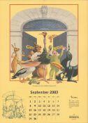2003 Guinness Calendar Print John Gilroys Animals Characters *12