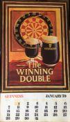 "1979 Vintage Guinness Calendar Month Print –The Winning Double"""