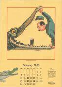2003 Guinness Calendar Print John Gilroys Animals Characters *6