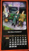1971 Vintage 50 Years Old Guinness Calendar Month Print 'Tony Escott Cartoons' *12
