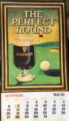 1979 Vintage Guinness Calendar Month Print – The Perfect Round –