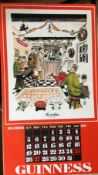 "1976 Vintage Guinness Calendar Print –Pub Names"" Artwork *6"