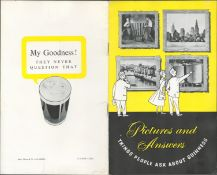 """1955 Guinness Promotional Booklet Entitled. –Things People Ask About Guinness"""""""