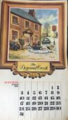 """GUINNESS 1974 Calendar Prints """"Pub Names"""" Artwork by Norman Thelwell *4"""