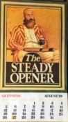 1979 Vintage Guinness Calendar Month Print – The Steady Opener –