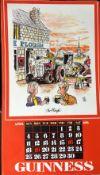 "1976 Vintage Guinness Calendar Print –Pub Names"" Artwork *4"