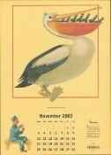 2003 Guinness Calendar Print John Gilroys Animals Characters *14