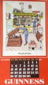 "1976 Vintage Guinness Calendar Print –Pub Names"" Artwork *1"