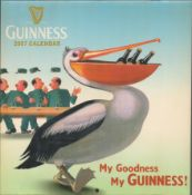 Selection of 6 Vintage Collectable Guinness Calendars.
