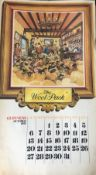 """GUINNESS 1974 Calendar Prints """"Pub Names"""" Artwork by Norman Thelwell *1"""