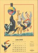 2003 Guinness Calendar Print John Gilroys Animals Characters *9