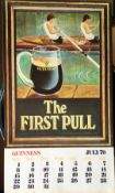 1979 Vintage Guinness Calendar Month Print –The First Pull –
