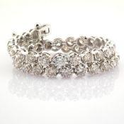 HRD Antwerp Certificated 14K White Gold Diamond Bracelet (Total 2.89 Ct. Stone)