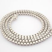 HRD Antwerp Certificated 14K White Gold Diamond Necklace (Total 2.73 Ct. Stone)