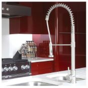 New (U26) Abode Stalto Professional Kitchen Tap In Stainless Steel. RRP £569.00. Creating A Be...