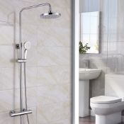 New (U34) Synergy Round Cool Touch Riser Shower System. RRP £318.00. Synergy Round Cool Touch ...