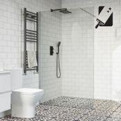 New (U35) 1200mm - 10mm - Premium Frameless Easy clean Wet room Panel. RRP £549.99. 10mm British...