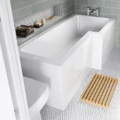 New (U7) 1700x850mm Right Hand L-Shaped Bath. Constructed From High Quality Acrylic Length: 17...