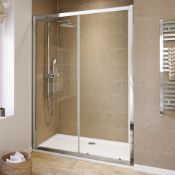 New (Aa17) 1500mm - 6mm - Elements Sliding Shower Door. RRP £299.99.6mm Safety Glass Fully W...