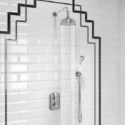 New & Boxed 150mm Traditional Stainless Steel Wall Mounted Head, Rail Kit. RRP £511.99.Ss2Wctr...