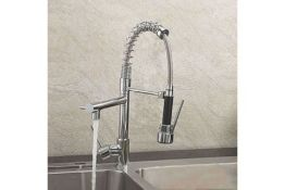 New & Boxed Bentley Modern Monobloc Chrome Brass Pull Out Spray Mixer Tap. RRP £349.99.This Ta...