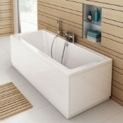 New (Aa5) 1700x700mm Square Double Ended Bath. We Love This Bath Because It Is Perfect For Two...