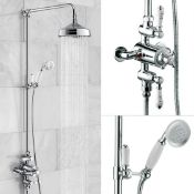 New (Aa32) Edwardian Dual Traditional Thermostatic Shower Mixer + Rigid Riser + Diverter This ...