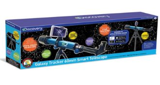 (R13F) 1x Discovery Galaxy Tracker 60mm Smart Telescope TDK30. (Unit Appears As New)