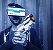 (R11G) 4x VR Real Feel 3D Reality Simulator Alien Blasters.