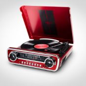 (R15B) 2x Items. 1x Ion Ford Mustang LP RRP £129. 4 In 1 Music Centre. 3 Speed Turntable. Records V