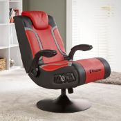 (R11H) 1x X Rocker Vision Pedestal Chair. 2.1 Wireless With Vibration Gaming Chair. (See Photo For